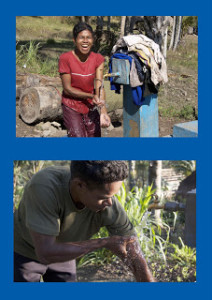 Masyarakat di Timor Tengah Selatan yang kini dapat dengan mudah mendapatkan air bersih