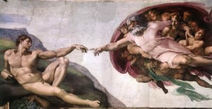 creation of man-michelangelo Sistine Chapel
