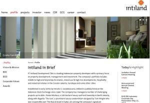 www.intiland.com  Design by Brown Fox Studio
