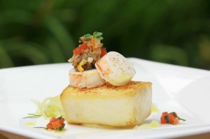 Conrad Bali-Decadent Balinese delights-Locally-sourced luxury- Black cod and lobster with local sea salt fricassée.[1][2][2][2]